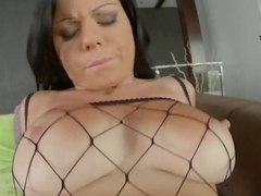 Busty Claudia Hot gets her pussy fucked until a throbbing cock unloads a torrent of sperm