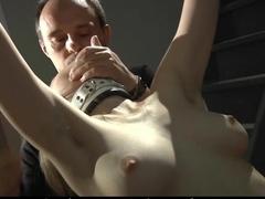 Bondage slave punished in the attic
