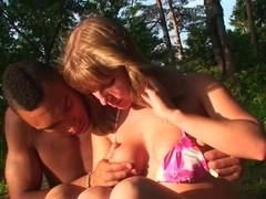 Alika & Milana Fox & Monica B. & Vicktoria Tiffany in young women porn scene made in the outdoors