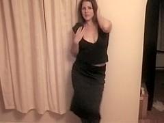 Watching my curvy girl's striptease