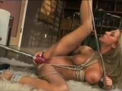 Sammie and Alektra use some bondage for very hot lesbian action