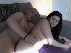 Horny babe with big butt rides cock