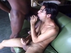 Nasty Ebony Tranny Fucking White Guy