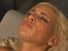 Blonde cutie gets a massive facial