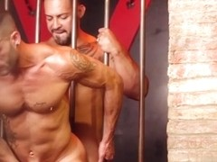 Latin gay threesome with facial