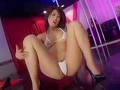 sexy girl seduces microkini.