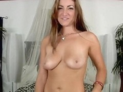 Alyson Westley showing her hot body and doing a blowjob for a man