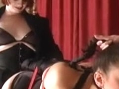 slavegirl double screwed by two mistresses
