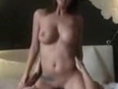 Sexy breasty angel screwed by fortunate boyfrend in hotel room and filmed on episode