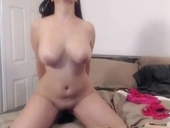 Huge Titties Babe Masturbates with her Huge Dildos