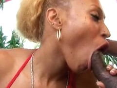 Round ass ebon nympho receives coarse from behind pounding