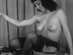 Vintage Burlesque Striptease PMV