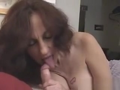 Sexy Busty Mature Gets Mouth Fucked