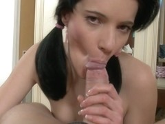 youthful angel shoves a marital-device anal