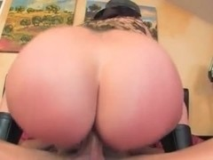 Booty MILF in military underwear rides face and cock