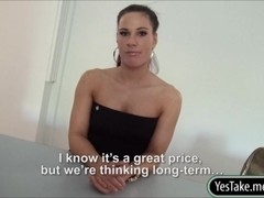Sexy realtor Athina Love payed for hardcore sex with client