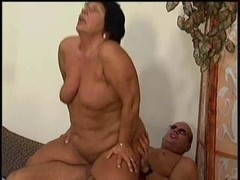 BBW mature babe riding a hard cock up and down hard