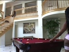 Couple Suck On Pooltable Fuck In Bed
