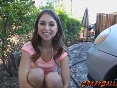Gorgeous horny babe Riley Reid fucking a big dick