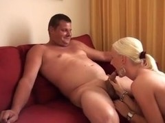 Sexy blonde shows blowjob and cock-riding skills