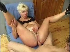 Russian Blonde Milf Fucked On The Billiard Table