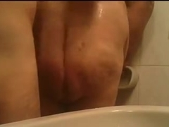 Bathing fat older man