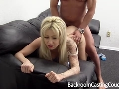 Blonde vixen swallows my hot sperm