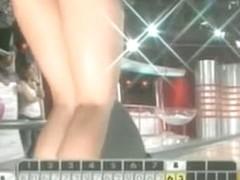 Beautiful sizzling hot brunette ass upskirt bowling ass shaking
