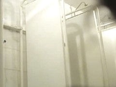 Steamy bootylicious chick caught on a shower spy cam tape