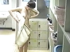 Spy cam in change room shoots nude tits and hairy cunt girl