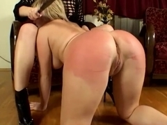 Exposing hard spanking female on female movies