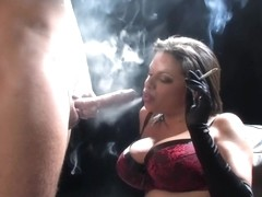 Smoking For Cum