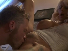 Stormy Daniels gets her pussy filled with nectar at the bathroom