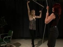 Fabulous fetish, blonde porn scene with hottest pornstars Nicki Hunter, Chastity Lynn and Bobbi Starr from Whippedass
