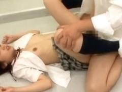Best Japanese chick Haruka Ito in Hottest College/Gakuseifuku, Small Tits JAV scene