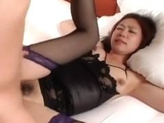 Exotic Japanese girl in Crazy JAV movie