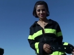 Exotic pornstar Charley Chase in best outdoor, latina adult clip