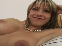 Big boobed milf Mellie is doing some masturbation