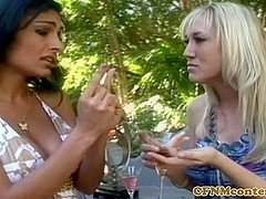 CFNM milfs humiliate and jerk in group