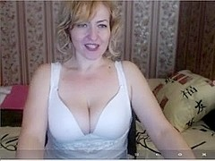 Russian blonde mature talks dirty