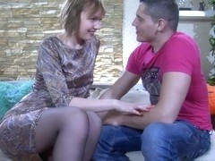 Anal-Pantyhose Video: Aubrey and Claudius