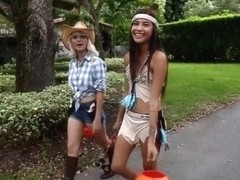 Group of Hotties gets turns their trick into treat