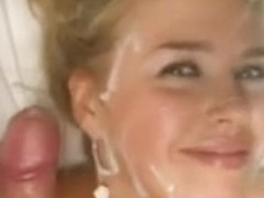 Cute Blonde Gives Blowjob and Gets Facial Cumshot