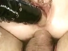Pierced whore stretching her snatch and wazoo