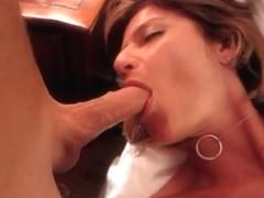 Hot MILF sucking my cock