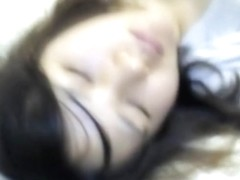 Man sliding dick over sleeping Asian chicks mouth lips nrh003 00