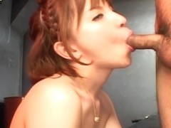 Ryo Tsujimoto Naughty Asian model likes sucking cock and getting facials