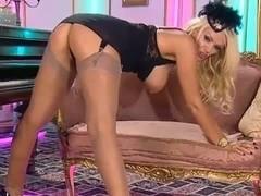Lucy zara nylon nylons and heels