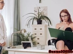 Redhead ###ary gets a mouthful of cum