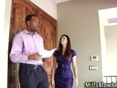 Interracial milf blow rod
